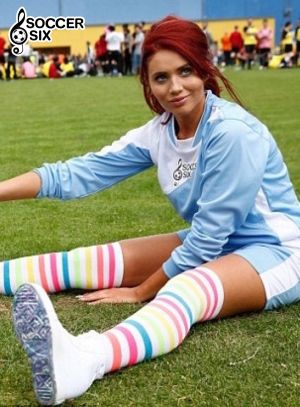 AMY CHILDS STRETCHES OUT